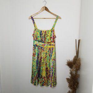 R&K | Multicolored Dot Mini Dress 14 Petite